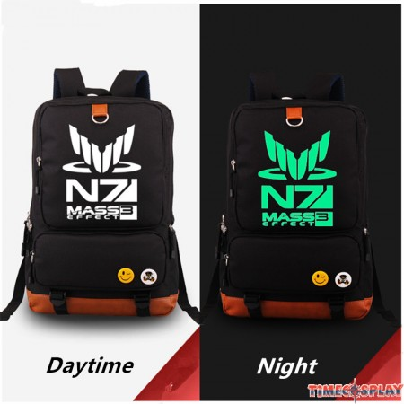 Mass Effect N7 Deadpool luminious Schoolbag backpack