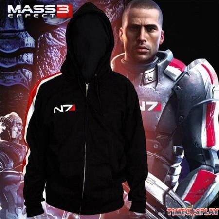 Mass Effect N7 Zipper Hoodies Cosplay Costume