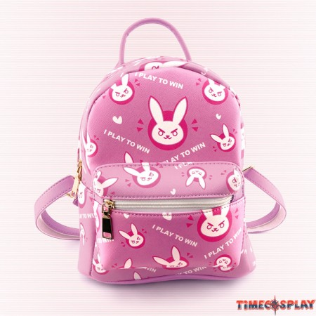 Overwatch D.VA Dva Bunny Logo Backpack School Shoulder Bag