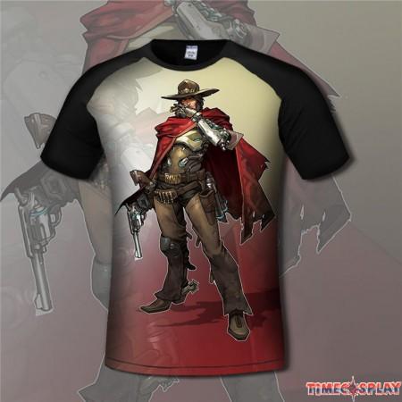 Overwatch McCree 3D Short Sleeve T-shirt