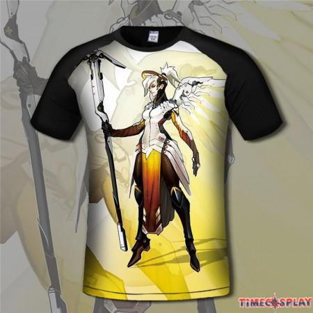 Overwatch Mercy 3D Short Sleeve T-shirt