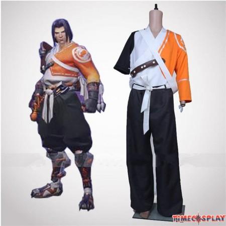 Overwatch Ow Hanzo Samurai Cosplay Halloween Costumes