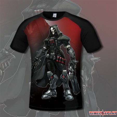 Overwatch Reaper 3D Print Men T-Shirts