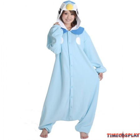 Pokemon Piplup Onesie Kigurumi Pajama For Adults