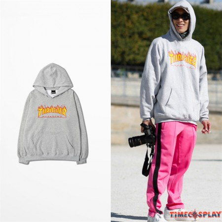 Rihanna Magazine Flame Logo Pullover Hoodies