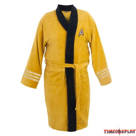 Star Trek Captain Kirk Cotton Long Bathrobe Costume
