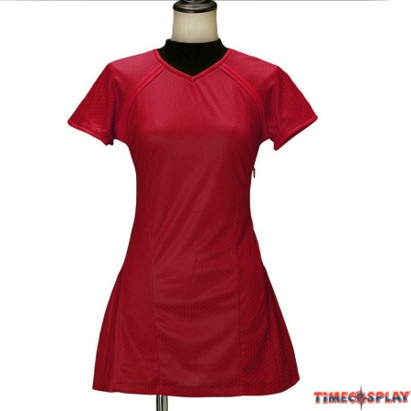 Star Trek Into Darkness Uhura Costume Red Uniform Dress Cosplay