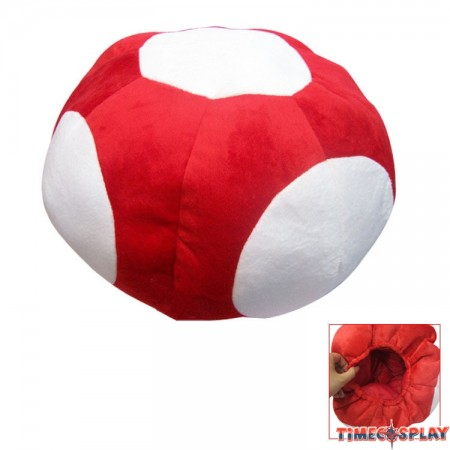 Timecosplay Super Mario Series Red Mushroom Cap Cosplay Hat