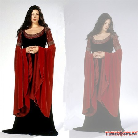 The Lord Of The Rings Elf Princess Arwen Cosplay Dress Halloween Costume
