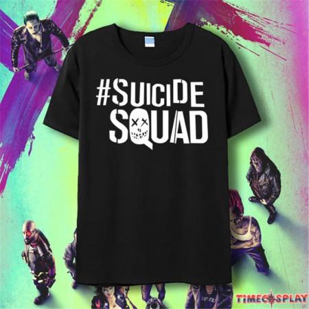 Timecosplay 2016 Suicide Squad Logo Short Sleeve Tee Shirts