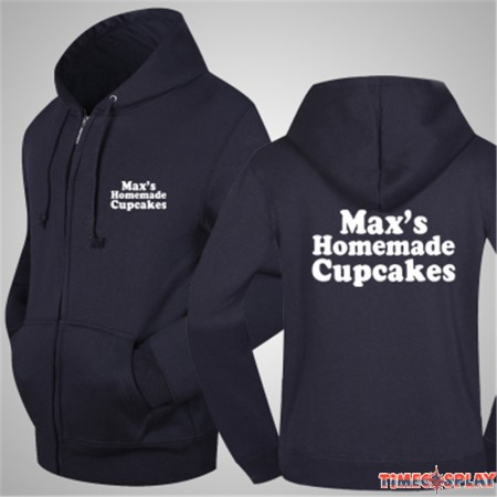 TimeCosplay 2 Broke Girls Maxs Homemade Cupcakes Zipper Hoodies Sweatshirts