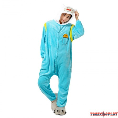 TimeCosplay Adventure Time Finn Cosplay Onesie Pajamas Halloween Animal Kigurumi