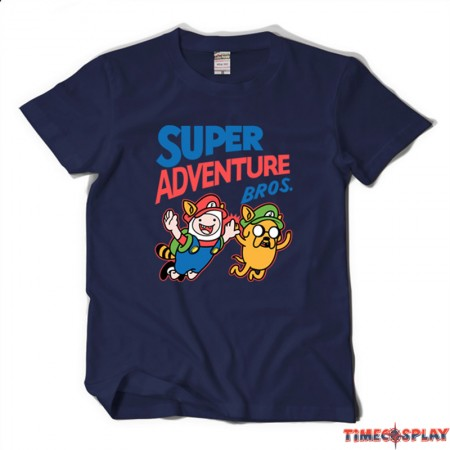 Timecosplay Adventure Time with Finn and Jake Men Short Sleeve Tee Shirts