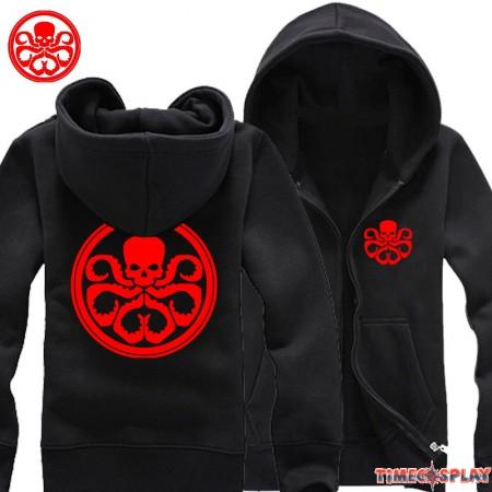 TimeCosplay Agents Of S.H.I.E.L.D Hydra Agents Logo Zipper Hoodies Sweatshirts