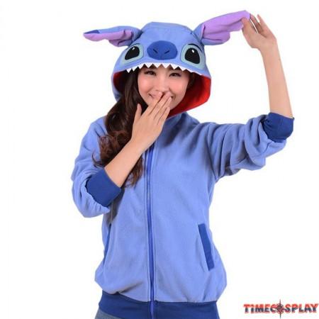 Timecosplay Anime Pokemon Go Cute Cartoon Stitch Stitch Blue Cosplay Hoodie Kigurumi Sweater