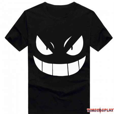Timecosplay Anime  Pokemon Go Gengar Icon Men Tee Shirts