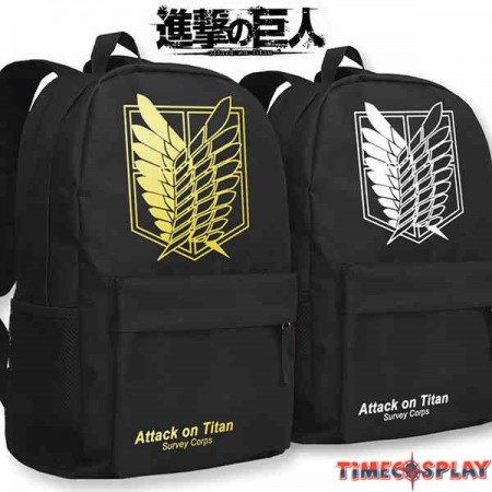 Timecosplay Attack on Titan Shoulders Bag Schoolbag Backpack