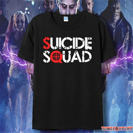 Timecosplay DC 2016 Suicide Squad Logo Short Sleeve Tee Shirts