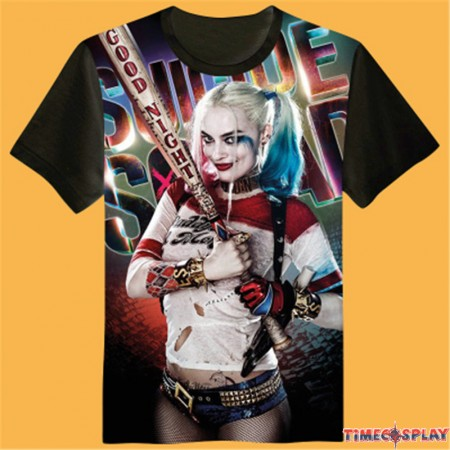 Timecosplay DC Suicide Squad Harley Quinn 3D Print Harajuku Men Tee Shirts