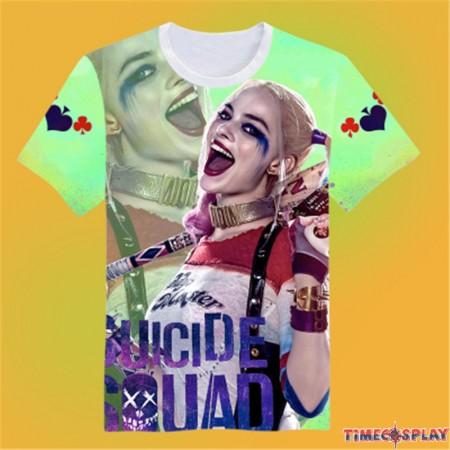 Timecosplay DC Suicide Squad Harley Quinn image 3D Print Harajuku Tee Shirts