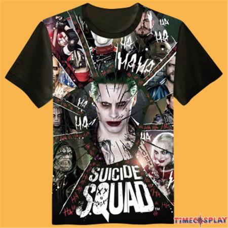 Timecosplay DC Suicide Squad Joker 3D Print Harajuku Men Tee Shirts