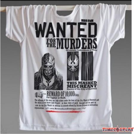 Timecosplay Dishonored Logo 3D Print Harajuku Wanted Murders Tee Shirts