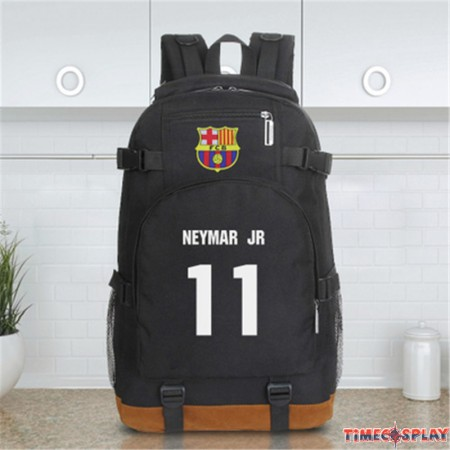 Timecosplay Fútbol Club Barcelona Neymar Icon Football Backpack School Bag