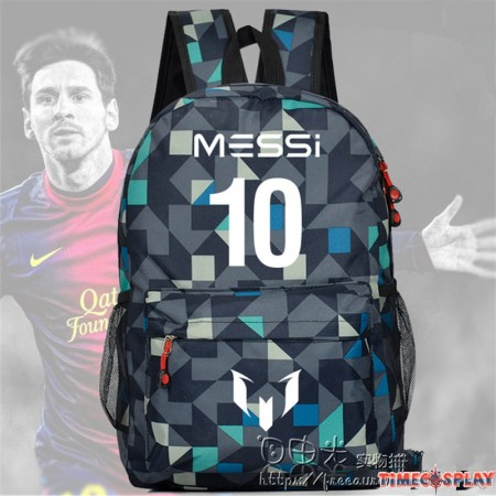 Timecosplay FC Barcelona Messi 10 lattice School bag Backpack