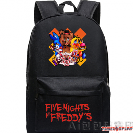 Timecosplay Five Nights at Freddys 5 Logo School bag Backpack