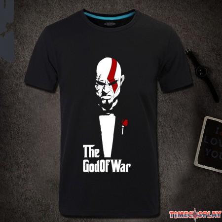 Timecosplay God Of War Kratos Men Short Sleeve T-shirt