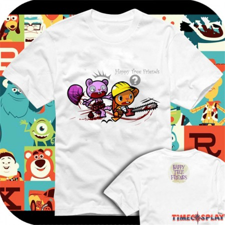 Timecosplay Happy Tree Friends Toothy and HandyTee Shirts