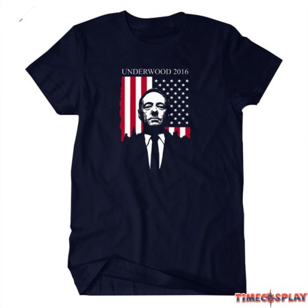 Timecosplay House Of Cards 2016 Underwood Kevin Spacey Avatar Men Tee Shirt