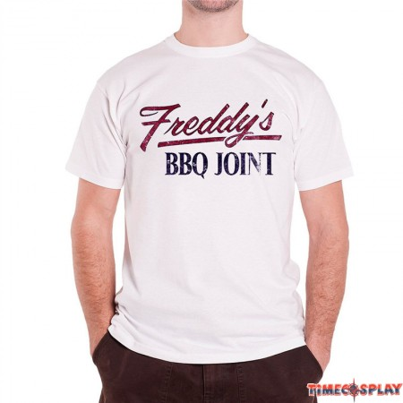 Timecosplay House Of Cards Freddy's BBQ Joint White Men Tee Shirt
