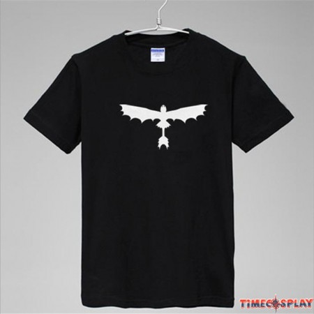 Timecosplay How to Train Your Dragon Toothless Night Fury Logo Tee Shirts