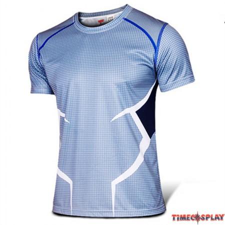 Timecosplay Marvel Superhero The Avengers Quicksilver Cosplay Sport Tight Tops Tee Shirt
