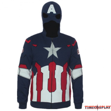 TimeCosplay Marvels Captain America Civil War Cosplay Zipper Hoodie Jacket