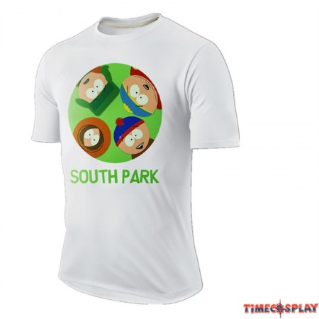 Timecosplay Merchandise South Park Short Sleeve Tee Shirts
