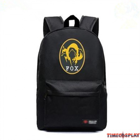 Timecosplay Metal Gear Solid V FOX Logo Bag Schoolbag Backpack