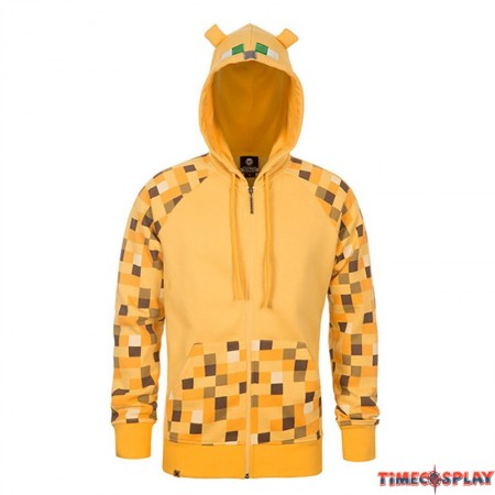 TimeCosplay Minecraft Creeper Premium Zip-Up Jacket Hoodie