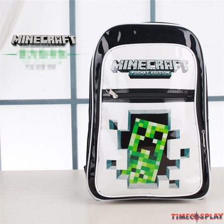 Timecosplay Minecraft Creeper School bag Backpack