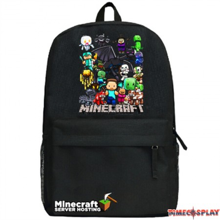 Timecosplay Minecraft family Logo School bag Backpack