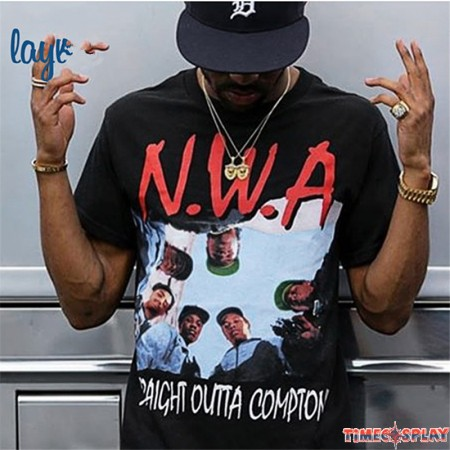 Timecosplay N.W.A Niggaz Wit Attitudes Straight Outta Compton Hip-Hop Tee Shirts