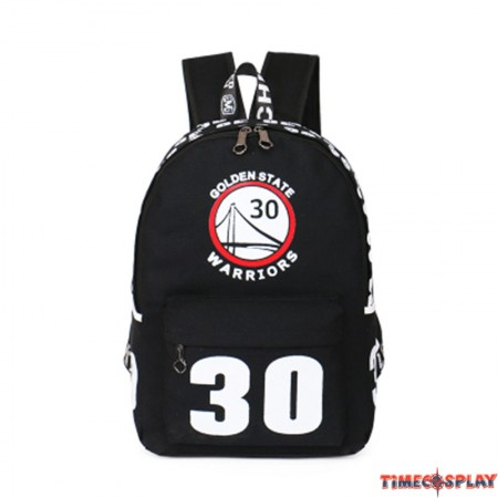 Timecosplay NBA Warriors Stephen Curry 30 Shoulders Bag Schoolbag