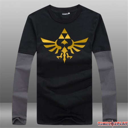 Timecosplay Nintendo The Legend of Zelda Men Game Long Tee Shirt