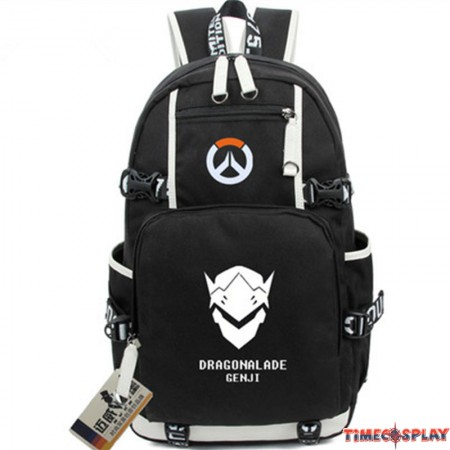 Timecosplay Overwatch Genji Icon Logo Cartoon Bag Backpack