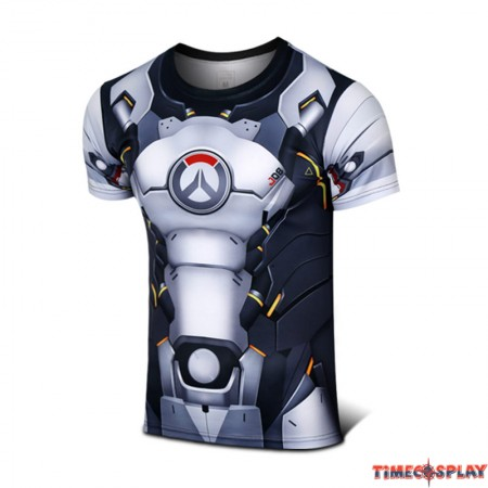 Timecosplay Overwatch Hero Reinhardt Wilhelm Cosplay Sport Tight 3D Tee Shirt