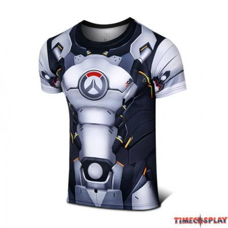 Timecosplay Overwatch Hero Reinhardt Wilhelm Cosplay Sport Tight 3D Tee Shirt