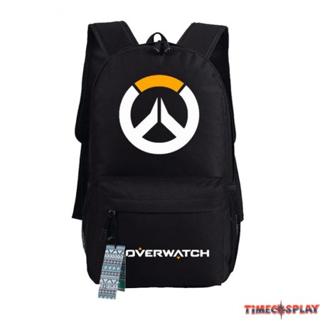 Timecosplay Overwatch logo Backpack School Bag