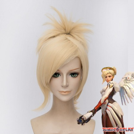 Timecosplay OW Overwatch Mercy Cosplay Wigs