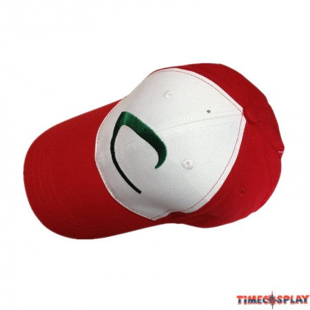 Timecosplay Pokemon Go Ash Ketchum Cosplay Baseball Cap Embroidered Trainer Hat for Adult